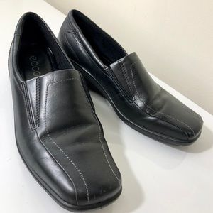 Ecco Black Leather Loafers Size 39 (US Women's 9)